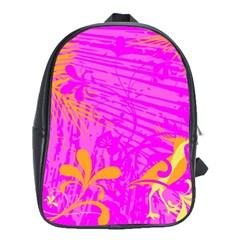 Spring Tropical Floral Palm Bird School Bags (xl)  by Nexatart
