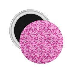 Shocking Pink Camouflage Pattern 2 25  Magnets by tarastyle