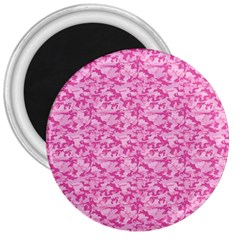 Shocking Pink Camouflage Pattern 3  Magnets by tarastyle