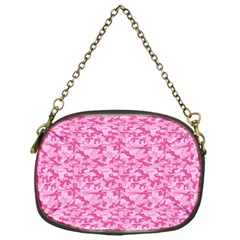 Shocking Pink Camouflage Pattern Chain Purses (one Side)  by tarastyle