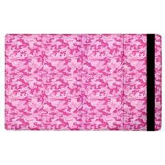 Shocking Pink Camouflage Pattern Apple Ipad 3/4 Flip Case by tarastyle