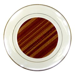 Stripes Course Texture Background Porcelain Plates by Nexatart