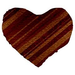 Stripes Course Texture Background Large 19  Premium Heart Shape Cushions by Nexatart