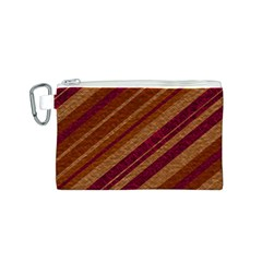 Stripes Course Texture Background Canvas Cosmetic Bag (s)