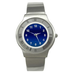 Blue Dot Stainless Steel Watch by PhotoNOLA