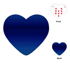 Blue Dot Playing Cards (heart)  by PhotoNOLA