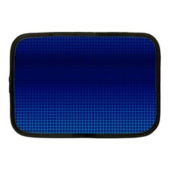 Blue Dot Netbook Case (medium)  by PhotoNOLA