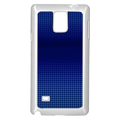 Blue Dot Samsung Galaxy Note 4 Case (white) by PhotoNOLA