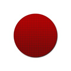 Redc Rubber Round Coaster (4 Pack)  by PhotoNOLA