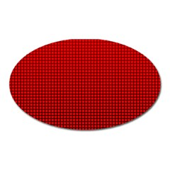 Redc Oval Magnet by PhotoNOLA