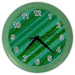 Stripes Course Texture Background Color Wall Clocks by Nexatart