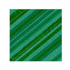Stripes Course Texture Background Small Satin Scarf (square) by Nexatart