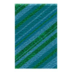Stripes Course Texture Background Shower Curtain 48  X 72  (small)  by Nexatart
