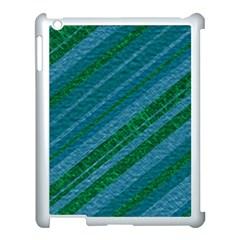 Stripes Course Texture Background Apple Ipad 3/4 Case (white) by Nexatart