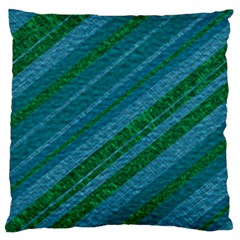 Stripes Course Texture Background Large Flano Cushion Case (two Sides) by Nexatart