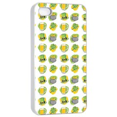 St Patrick S Day Background Symbols Apple Iphone 4/4s Seamless Case (white) by Nexatart