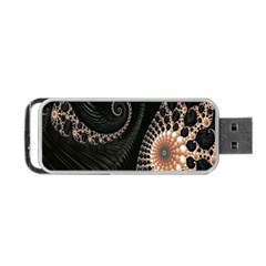 Fractal Black Pearl Abstract Art Portable Usb Flash (one Side) by Nexatart