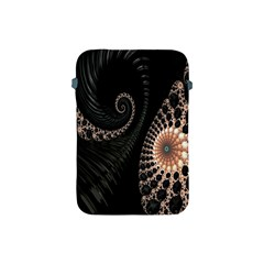 Fractal Black Pearl Abstract Art Apple Ipad Mini Protective Soft Cases by Nexatart