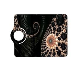 Fractal Black Pearl Abstract Art Kindle Fire Hd (2013) Flip 360 Case by Nexatart