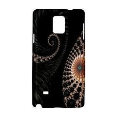 Fractal Black Pearl Abstract Art Samsung Galaxy Note 4 Hardshell Case by Nexatart