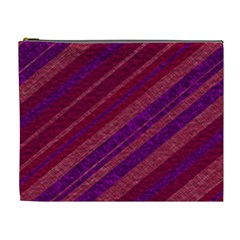 Stripes Course Texture Background Cosmetic Bag (xl) by Nexatart