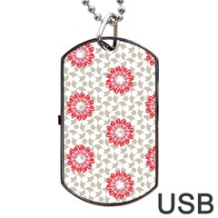 Stamping Pattern Fashion Background Dog Tag Usb Flash (two Sides) by Nexatart