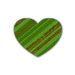 Stripes Course Texture Background Rubber Coaster (heart)  by Nexatart