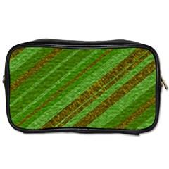 Stripes Course Texture Background Toiletries Bags by Nexatart
