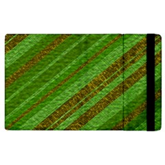 Stripes Course Texture Background Apple Ipad 2 Flip Case by Nexatart