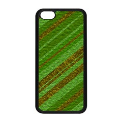 Stripes Course Texture Background Apple Iphone 5c Seamless Case (black) by Nexatart