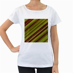 Stripes Course Texture Background Women s Loose-Fit T-Shirt (White) by Nexatart