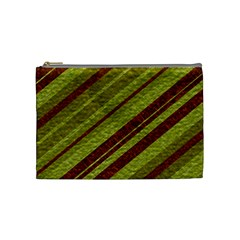 Stripes Course Texture Background Cosmetic Bag (medium)  by Nexatart