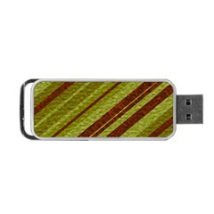 Stripes Course Texture Background Portable Usb Flash (two Sides) by Nexatart