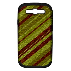Stripes Course Texture Background Samsung Galaxy S Iii Hardshell Case (pc+silicone) by Nexatart