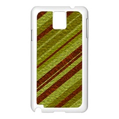 Stripes Course Texture Background Samsung Galaxy Note 3 N9005 Case (white) by Nexatart