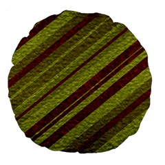 Stripes Course Texture Background Large 18  Premium Flano Round Cushions by Nexatart