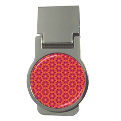 Pattern Abstract Floral Bright Money Clips (round)  by Nexatart