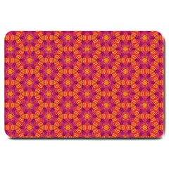 Pattern Abstract Floral Bright Large Doormat  by Nexatart
