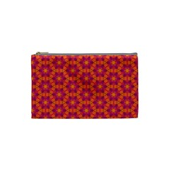 Pattern Abstract Floral Bright Cosmetic Bag (small)  by Nexatart