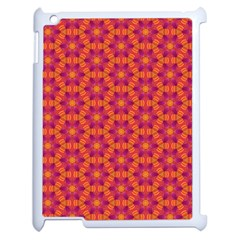 Pattern Abstract Floral Bright Apple Ipad 2 Case (white) by Nexatart