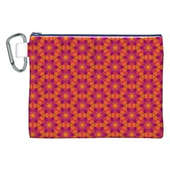 Pattern Abstract Floral Bright Canvas Cosmetic Bag (xxl) by Nexatart