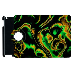 Glowing Fractal A Apple Ipad 3/4 Flip 360 Case by Fractalworld
