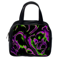 Glowing Fractal B Classic Handbags (one Side) by Fractalworld