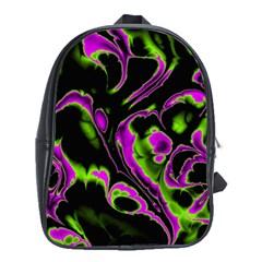 Glowing Fractal B School Bags (xl)  by Fractalworld