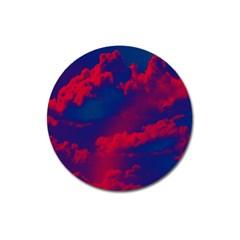 Sky Pattern Magnet 3  (round) by Valentinaart