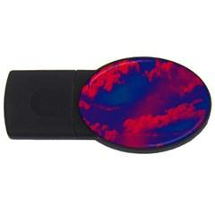 Sky Pattern Usb Flash Drive Oval (2 Gb) by Valentinaart