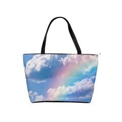 Sky Pattern Shoulder Handbags by Valentinaart