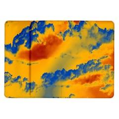 Sky Pattern Samsung Galaxy Tab 10 1  P7500 Flip Case by Valentinaart