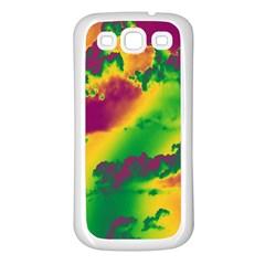 Sky Pattern Samsung Galaxy S3 Back Case (white) by Valentinaart