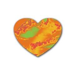 Sky Pattern Heart Coaster (4 Pack)  by Valentinaart